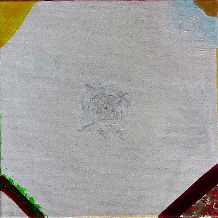 Tata, Papa, Hommage - Mikrokosmos. Acryl auf Leinwand, 25 x 25 cm, 2014