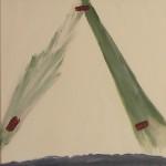 Tata, Papa, Hommage - Seele .Acryl auf Leinwand, 40 x 40 cm, 2014